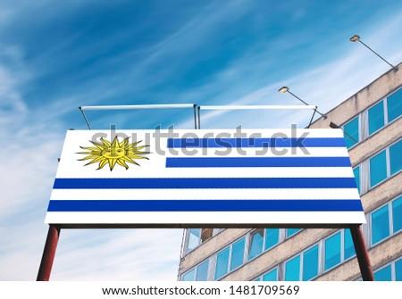 Flag of Uruguay on Advertising Billboard. #1481709569