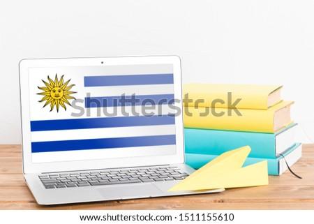 Flag of Uruguay on Laptop. Uruguay Flag on Screen. #1511155610