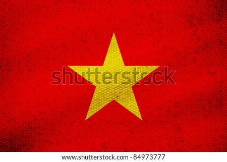 flag of Vietnam, yellow star on red screen Vietnam flag.