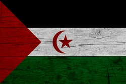Flag of Western Sahara Wooden texture of the flag of Western Sahara.