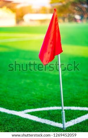 Flag on corner field stadium football or soccer #1269452059