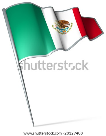 Flag pin - Mexico