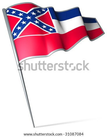 Flag pin - Mississippi (USA)