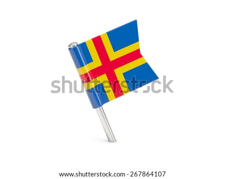 Flag pin of aland islands isolated on white #267864107