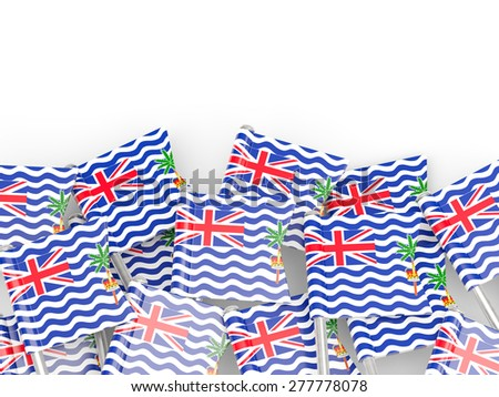 Flag pin of british indian ocean territory isolated on white #277778078