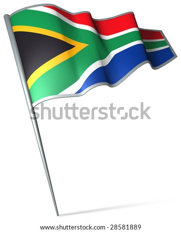 Flag pin - South Africa