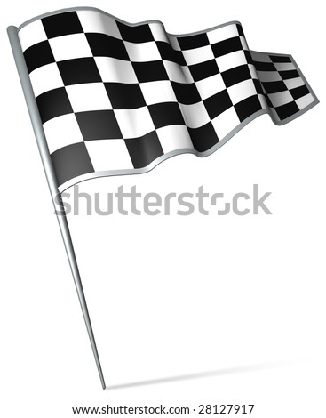 Flag pin - start-finish