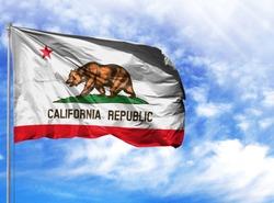 flag State of California on a flagpole