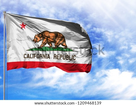 flag State of California on a flagpole #1209468139