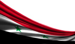 Flag Syria with the place for your text or the image.