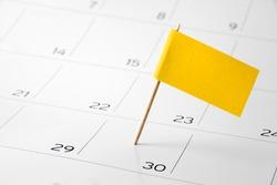 Flag the event day or deadline on calendar 2017 - time, page, design, background, timeline, management, concept, background