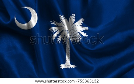 Flags from the USA on fabric ; State of South Carolina #755365132