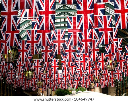 flags in Covent garden