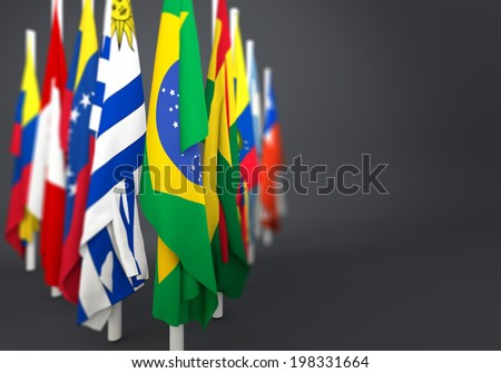 flags in the mast of america latina