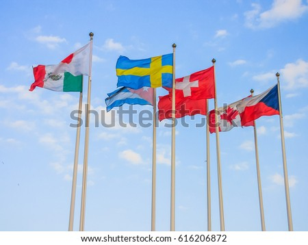 Flags of different countries #616206872