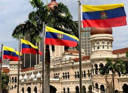 Flags of Kuala Lumpur in celebration of Federal Territory Day. Kuala Lumpur is the capital city of Malaysia and became the first of three federal territory on 1 February 1974.