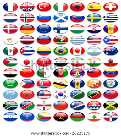 flags of nations - stock photo
