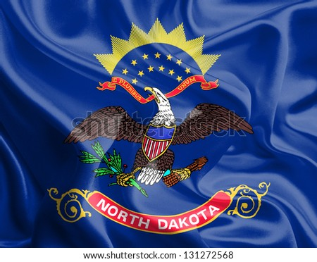 Flags of the U.S. states: Waving Fabric Flag of North Dakota