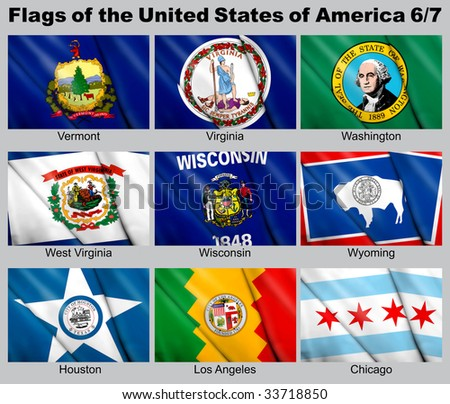 Flags of the USA with clipping path 6/7