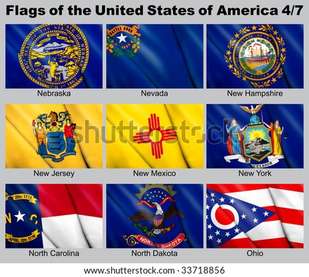 Flags of the USA with clipping path 4/7