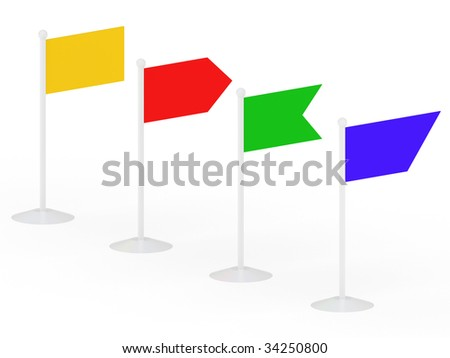 Flags on a white background