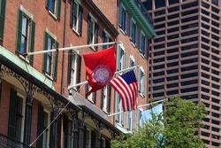 Flags on Northeastern University