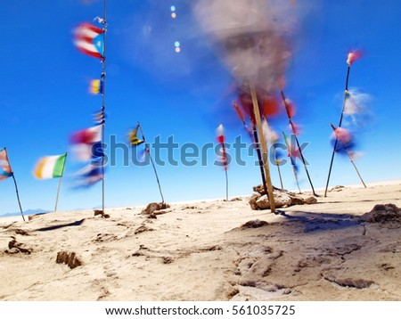 flags on wind #561035725