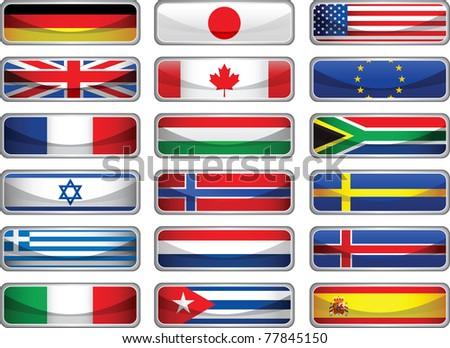 Flags. Raster version of vector illustration