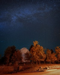 Flagstaff Lowell Observatory at night