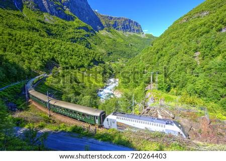 Flam Railway, Aurland, Norway