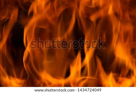 flame for  background,tongues of flame, tongues of fire, flame pattern, flame structure,blury and soft image,  #1434724049