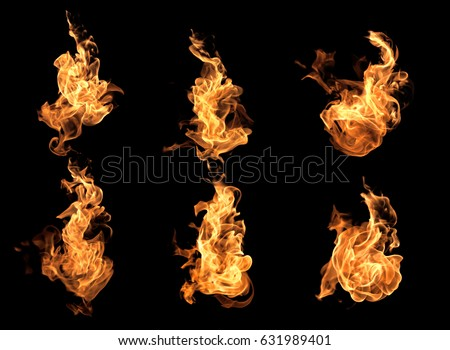 Photo of  Flame heat fire abstract background black background