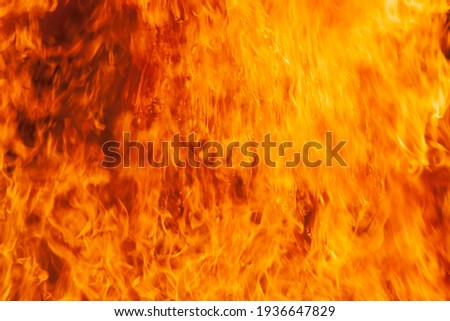 Flame of fire. Fire background. Texture. Foto stock ©