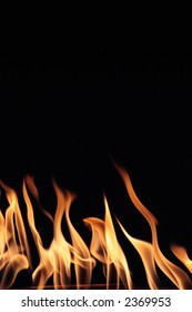 A stock photo of flames.