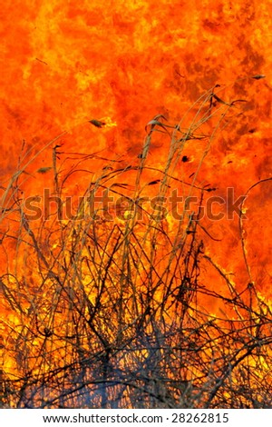 flames during big fire