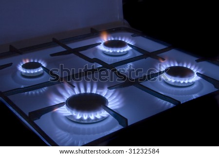 Flames gas stove