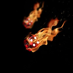 Flaming dices