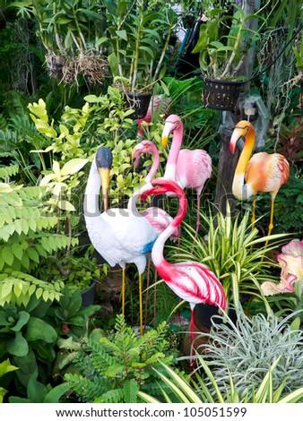 flamingo in garden