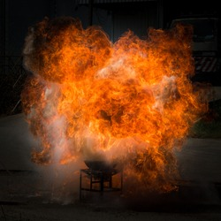 flammable explosion