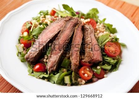 Flank Steak Salad with Israeli Couscous