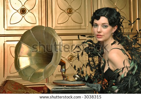 flapper and gramophone