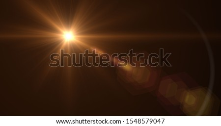 Flare lens Stock Image In Black Background