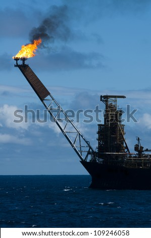 Flare of an FPSO oil rig