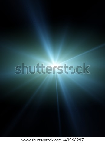 flare with rays