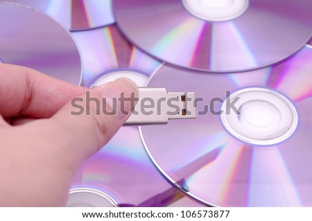 Flash-Disk and CD-ROM