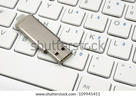flash disk and the computer