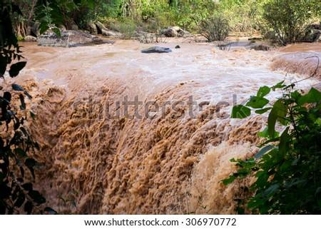 Flash flood.focus blur Stock photo ©