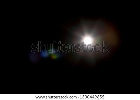 Flash light effect isolated on transparent background. White flashlight, flare or camera flash overlay #1300449655
