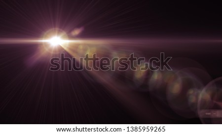 Photo of  flash lights optical lens flares shiny illustration art background new natural lighting lamp rays effect colorful bright stock image