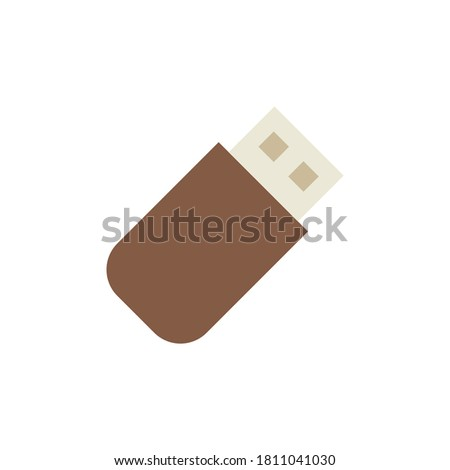 Flashcard technology icon. Simple color illustration elements of cabinet accessories icons for ui and ux, website or mobile application Stock photo ©